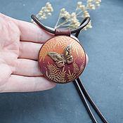Украшения handmade. Livemaster - original item Orange-burgundy butterfly pendant. Autumn pendant. Handmade.