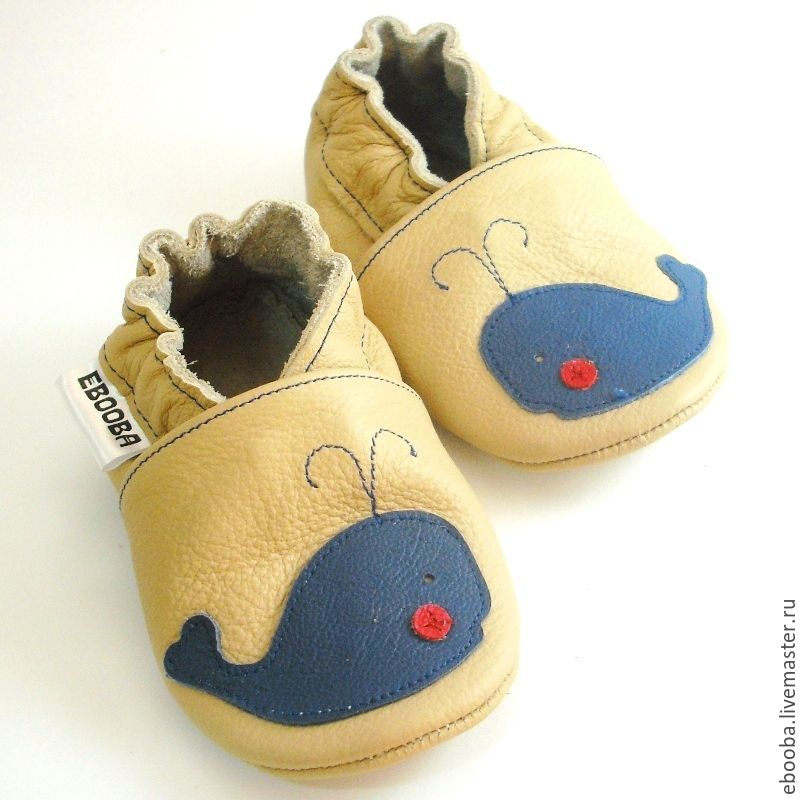 87bef7a20a4d8 Blue whale baby shoes, Ebooba, Soft sole boy shoes, Crib Shoes – shop  online on Livemaster with shipping - 2DVKTCOM | Kharkiv