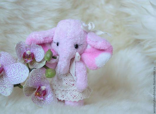 Игрушки животные, ручной работы. Ярмарка Мастеров - ручная работа. Купить Слоня. Handmade. Розовый, игрушка в подарок, синтепух