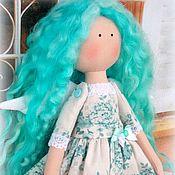 Куклы и игрушки ручной работы. Ярмарка Мастеров - ручная работа Куколка малышка в бирюзовом. Handmade.