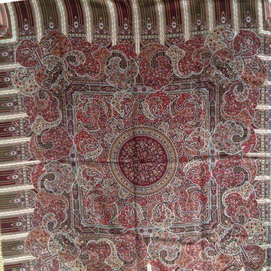 Павлопосадский платок, лоскут, промышленный отрез Декупажная радость