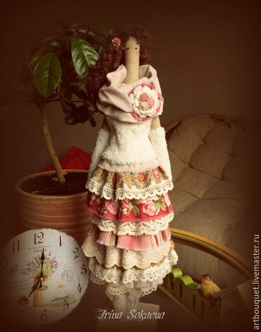 Куклы Тильды ручной работы. Ярмарка Мастеров - ручная работа. Купить Интерьерная кукла. Handmade. Бежевый, бохо