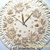 """Для дома и интерьера ручной работы. Ярмарка Мастеров - ручная работа часы """"белый шоколад"""" фьюзинг. Handmade."""