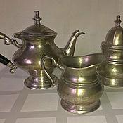 Винтаж ручной работы. Ярмарка Мастеров - ручная работа Винтажный  чайный набор для стола Завтрак. Handmade.