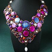Украшения handmade. Livemaster - original item Necklace Blueberry Sunset (option). Handmade.
