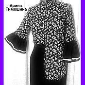 Одежда ручной работы. Ярмарка Мастеров - ручная работа Блуза - Рубашка Цветочная - 301. Handmade.
