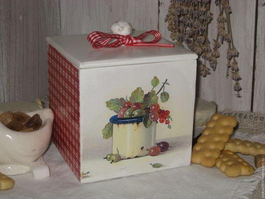 """Кухня ручной работы. Ярмарка Мастеров - ручная работа. Купить Короб для кухни """" Лето в деревне """". Handmade."""