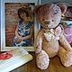 Мишки Тедди ручной работы. Ярмарка Мастеров - ручная работа. Купить Ванильно-ягодный пломбир мишка-тедди. Handmade. вата