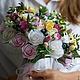"""Свадебные цветы ручной работы. Ярмарка Мастеров - ручная работа. Купить Свадебный букет """"Аннушка"""". Handmade. Розовый, невеста"""