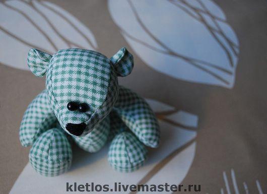 Мишки Тедди ручной работы. Ярмарка Мастеров - ручная работа. Купить Мишка в клетку. Handmade. Хлопок