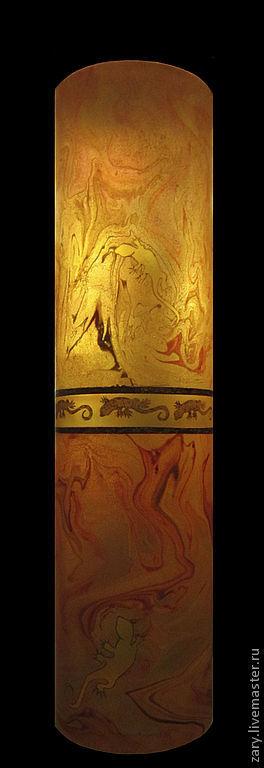 """Напольная ваза  - светильник """"Огненный танец саламандры"""", Вазы, Москва,  Фото №1"""