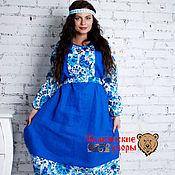"""Одежда ручной работы. Ярмарка Мастеров - ручная работа Платье """"Гжель"""" (синяя). Handmade."""