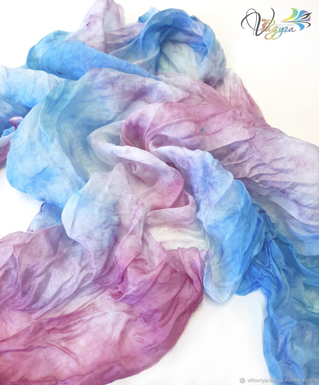 Romantic shawl, pink and blue-batik, Shawls1, Slavsk,  Фото №1