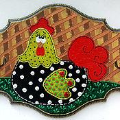"""Подарки к праздникам ручной работы. Ярмарка Мастеров - ручная работа вешалка """"Курочка"""". Handmade."""