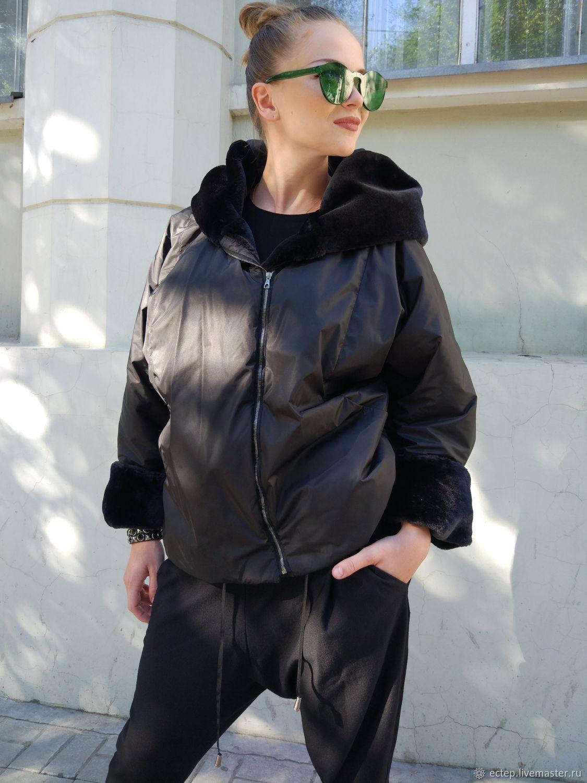 """Верхняя одежда ручной работы. Ярмарка Мастеров - ручная работа. Купить Куртка на меху """"Черная пантера"""". Handmade. Подарок девушке"""