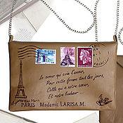 Сумки и аксессуары ручной работы. Ярмарка Мастеров - ручная работа Клатч-конверт на тему Парижа. Handmade.