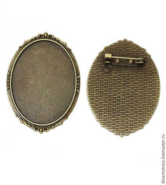 Для украшений ручной работы. Ярмарка Мастеров - ручная работа. Купить 40/30 мм Брошь-основа.Цвет античная бронза. Handmade.
