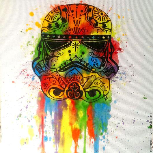 """Футболки, майки ручной работы. Ярмарка Мастеров - ручная работа. Купить """"Stormtrooper - Имперский штурмовик"""" - Star wars Майка (0902). Handmade."""