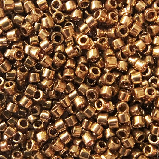 Для украшений ручной работы. Ярмарка Мастеров - ручная работа. Купить 10 ГР MIYUKI DELICA 11/0 DB22L opaque metallic light bronze. Handmade.