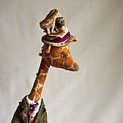 """Куклы и игрушки ручной работы. Ярмарка Мастеров - ручная работа """"...полтора жирафа с Тяпой под шляпой, в костюме графа..."""". Handmade."""