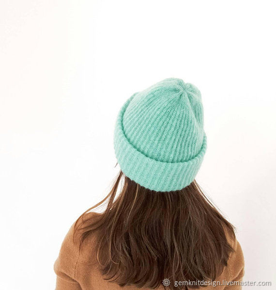 Mohair with silk hat tiffany color