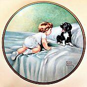 Винтаж handmade. Livemaster - original item Hamilton Collection Wall Plate. USA, 1985.. Handmade.