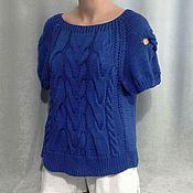 """Одежда ручной работы. Ярмарка Мастеров - ручная работа Майка """"Королевский синий"""". Handmade."""