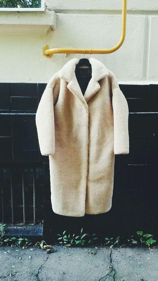 Верхняя одежда ручной работы. Ярмарка Мастеров - ручная работа. Купить Шуба из облегчённой овчины на весну. Handmade. Шуба, осень