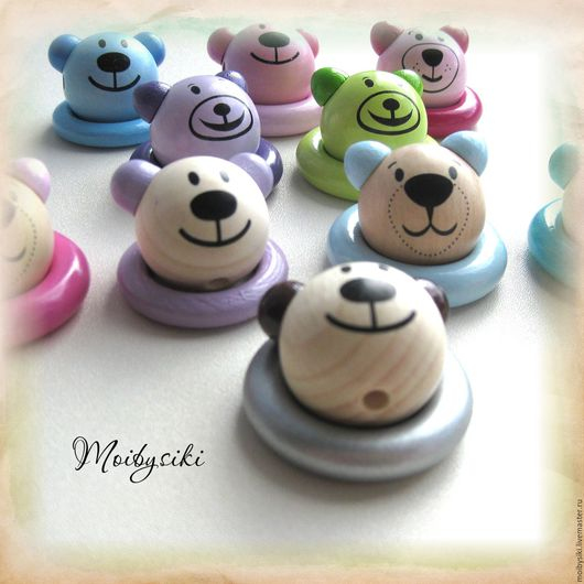 Для украшений ручной работы. Ярмарка Мастеров - ручная работа. Купить Бусина 3D Медведь. Handmade. Комбинированный, фурнитура для украшений