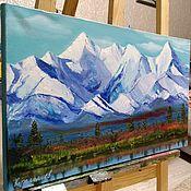 Pictures handmade. Livemaster - original item Mountains Of Altai.Belukha. Handmade.