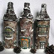 Подарки к праздникам ручной работы. Ярмарка Мастеров - ручная работа Новогодний декор бутылок. Handmade.