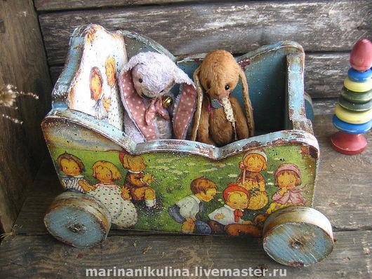 """Кукольный дом ручной работы. Ярмарка Мастеров - ручная работа. Купить """"Kinder"""" тележка для игрушек. Handmade. Тележка, дерево"""