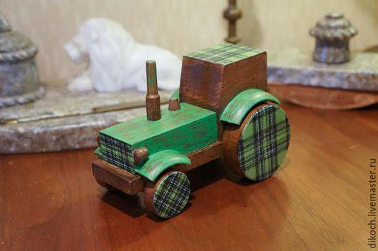 Техника ручной работы. Ярмарка Мастеров - ручная работа. Купить Трактор. Handmade. Трактор, подарок ребенку, подарок на 23 февраля