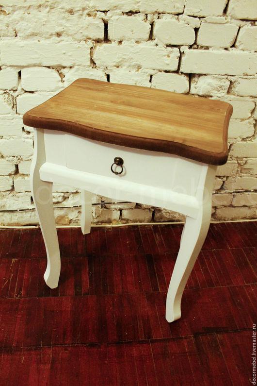 Мебель ручной работы. Ярмарка Мастеров - ручная работа. Купить Тумбочка столик белая. Handmade. Тумбочка, ампир, реставрация