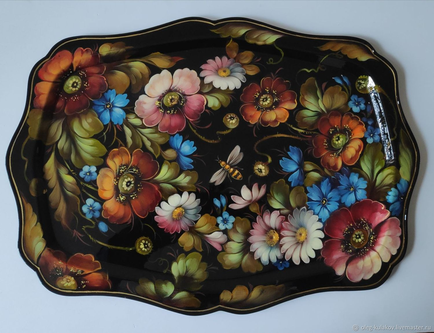 Tray Zhostovo 'May' from the author, Souvenirs3, Moscow,  Фото №1