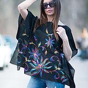 Одежда handmade. Livemaster - original item Summer blouse with embroidery - TP0861CT. Handmade.