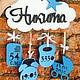 Детская ручной работы. Ярмарка Мастеров - ручная работа. Купить Детская метрика в облачке. Handmade. Метрика, слова, буквы для интерьера