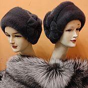 Аксессуары handmade. Livemaster - original item Women`s hat made of astrakhan. Handmade.