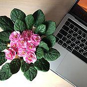 Цветы ручной работы. Ярмарка Мастеров - ручная работа Цветы: фиалки. Handmade.