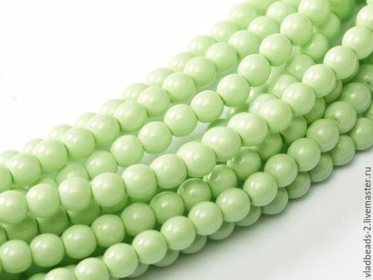 Для украшений ручной работы. Ярмарка Мастеров - ручная работа. Купить Бусины 2мм чешские стеклянные Light Spring Green. Handmade.