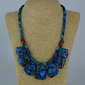Украшения handmade. Livemaster - original item Necklace from NAT. stones (variscite, agate)