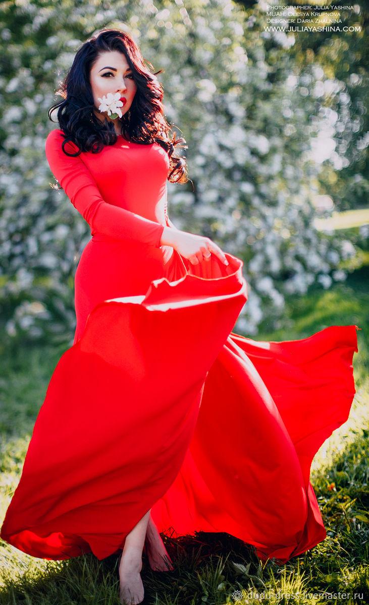 4a92b3226163eee Красное платье в пол с запАхом – купить в интернет-магазине на ...