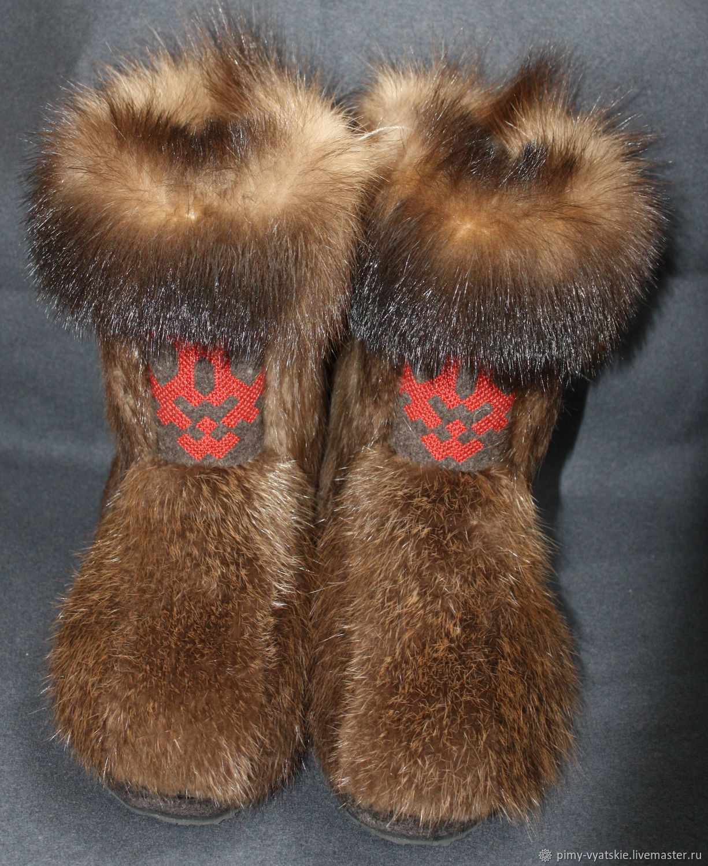 Обувь ручной работы. Ярмарка Мастеров - ручная работа. Купить Пимы вятские. Handmade. Бобер, войлочная подошва