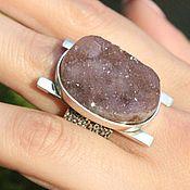 Украшения handmade. Livemaster - original item Shine ring with amethyst made of 925 sterling silver IV0038. Handmade.