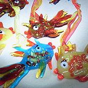 Для дома и интерьера ручной работы. Ярмарка Мастеров - ручная работа Подвески Рыбочки. Handmade.