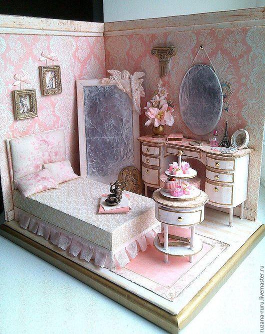 """Кукольный дом ручной работы. Ярмарка Мастеров - ручная работа. Купить Румбокс """"Королевская Лилия"""". Handmade. Кукольная миниатюра, миниатюра"""