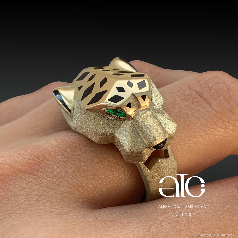 Ring: Men's Jaguar ring. Gold 585, Rings, Moscow,  Фото №1