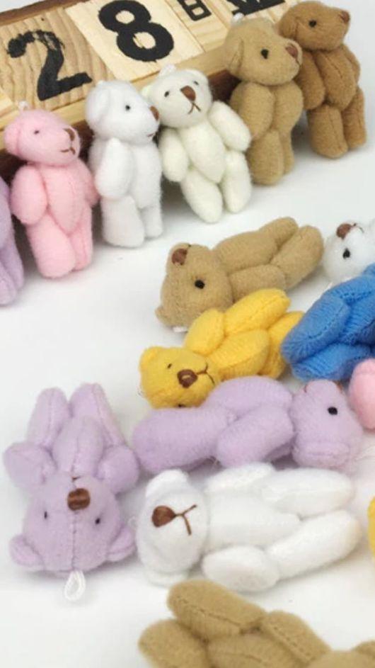 Куклы и игрушки ручной работы. Ярмарка Мастеров - ручная работа. Купить Мишки для кукол, 4 см. Handmade. Комбинированный, мишки