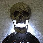 Для дома и интерьера ручной работы. Ярмарка Мастеров - ручная работа Оригинальный мистический ночник в виде черепа. Handmade.
