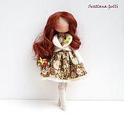 Тильда Зверята ручной работы. Ярмарка Мастеров - ручная работа Рыжуля Кукла интерьерная Авторская кукла Кукла текстильная. Handmade.